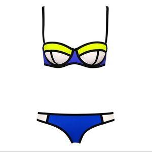 Other - Neoprene Blue and Neon Yellow Bikini